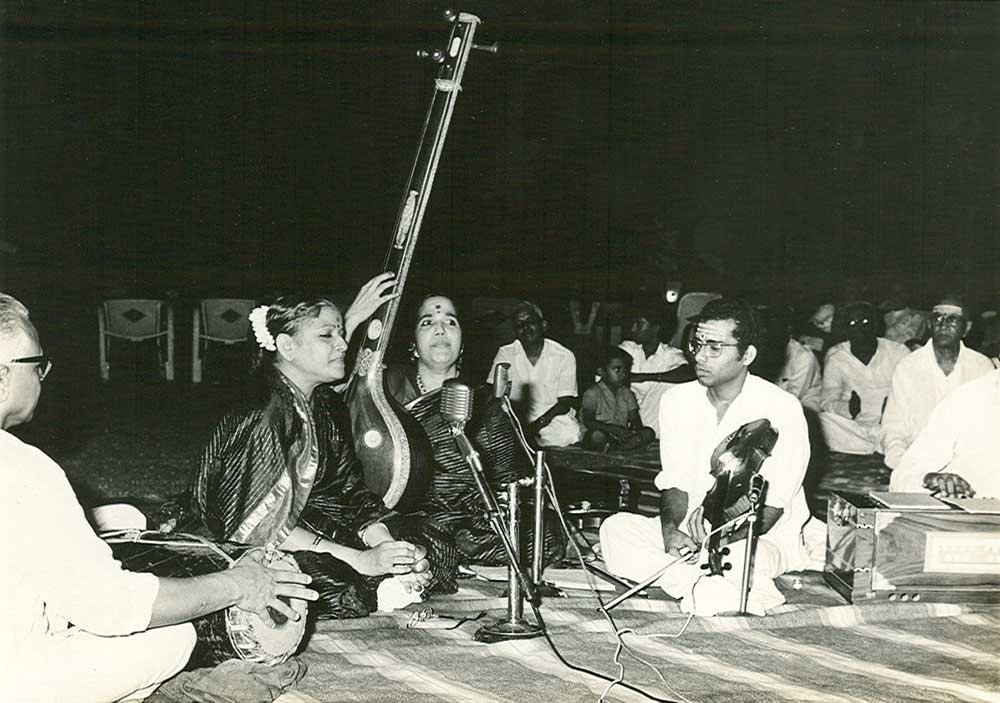 A concert on the lawn at Kalki Gardens