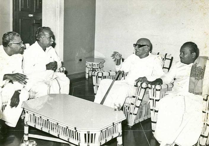 Nedunchezian, Arignar Anna and Rajaji