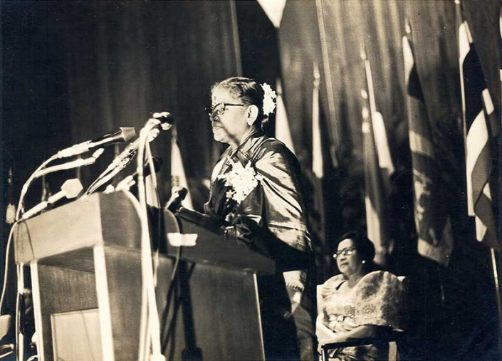 Acceptance Sppech after receiving the Magsasay award in the Philipinnes in 1974
