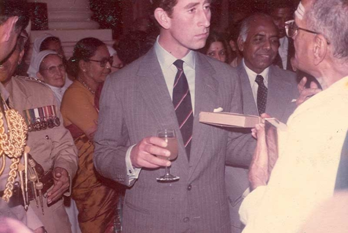 a Meeting Prince Charles in Chennai