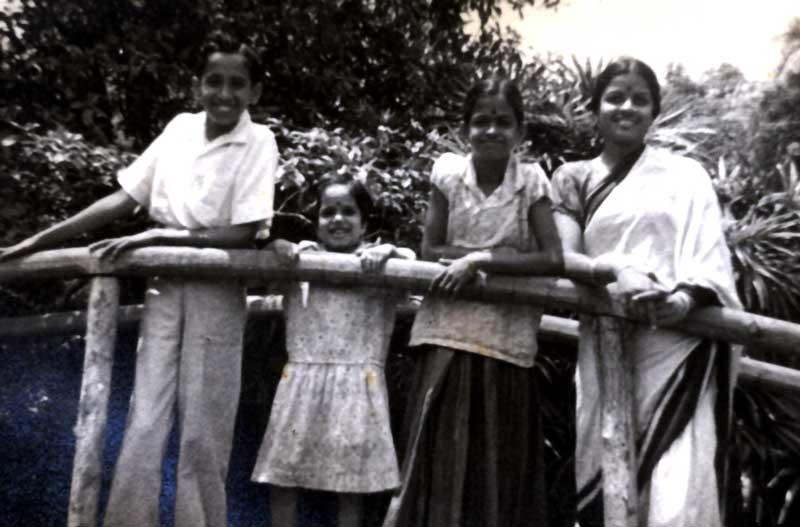 MS with little Radha, niece Thangam and nephew Ramachandran