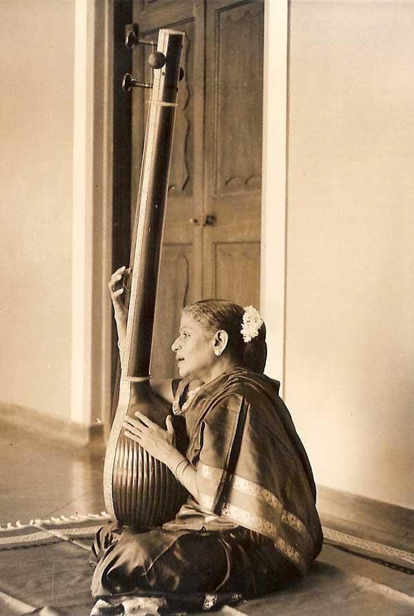 Singing with Tanpura at Kalki Gardens
