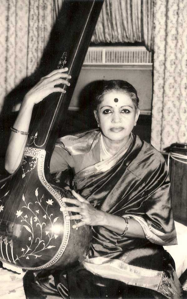 With her Miraj tanpura